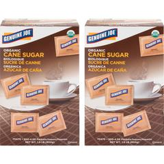 Genuine Joe Turbinado Natural Cane Sugar Packets - PacketCane Sugar Flavor - Natural Sweetener - 400/Carton