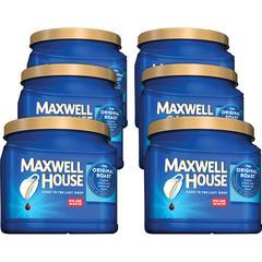 Maxwell House Original Ground Coffee Ground - Regular - Arabica - Medium - 30.6 oz - 6 / Carton