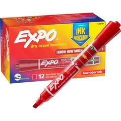 Sanford Expo Dry Erase Ink Indicator Marker - Chisel Marker Point Style - 12 / Box