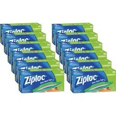 "Ziploc® Brand Sandwich Bags - 5.88"" Width x 6.50"" Length - Clear - 1080/Carton - 90 Per Box - Sandwich, Food"