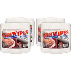 "2XL GymWipes Professional Towelettes Bucket Refill - Wipe - 6"" Width x 8"" Length - 700 - 4 / Carton - White"
