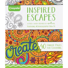 Crayola Inspired Escapes Coloring Book - 40 Pages - Multicolor Paper - 1Each