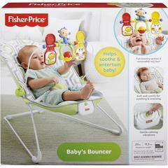 Fisher-Price Baby's Bouncer - Gray, White - Fabric