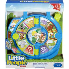Little People World of Animals See 'n Say Toy - Skill Learning: Animal Name, Animal Sound Pattern, Quiz, Sensory Perception, Cognitive Process, Social Skills, Emotion, Music, Songs, Discovery, Muscle,