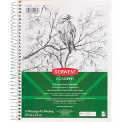 "Mead Academy Heavyweight Paper Sketch Journal - Letter - Wire Bound - 67 lb Basis Weight - 8 1/2"" x 11"" - White Paper - 1Each"