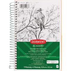 "Mead Academy Heavyweight Paper Sketch Journal - 70 Sheets - Wire Bound - 67 lb Basis Weight - 6"" x 9"" - White Paper - 1Each"