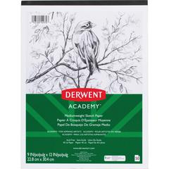 "Mead Academy Medium-weight Sketch Pad - 70 Sheets - Tape Bound - 45 lb Basis Weight - 9"" x 12"" - White Paper - 1Each"