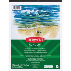 """Mead Textured Surface Watercolor Paper - 15 Sheets - Wire Bound - 9"""" x 12"""" - Multicolor Paper - 1Each"""