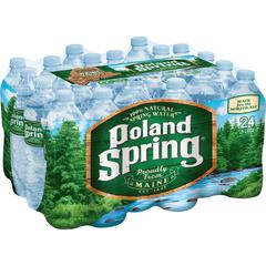 Poland Spring Bottled Spring Water - Ready-to-Drink - 16.91 fl oz (500 mL) - Bottle - 24 / Carton
