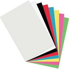 "Pacon Plastic Art Sheets - Sign, Craft Project, Collage, Art Project, Craft Project, Drawing, Painting - 0.1"" x 17""11"" - 8 / Pack - Assorted - Plastic, Polyethylene"