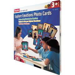 Roylco Explore Emotions Photo Cards - Theme/Subject: Learning - Skill Learning: Emotion, Feeling, Picture Identification, Story Logic - 24 Pieces - 3+