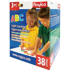 Roylco Light Learning: Uppercase Letters - Theme/Subject: Learning - Skill Learning: Alphabet, Spelling, Motor Skills, Color Identification, Vowels - 38 Pieces - 3+