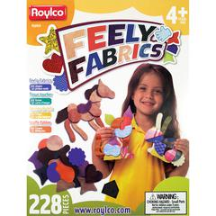 "Roylco Feely Fabrics Sensory Exploration - Fun Theme/Subject (Assorted) Shape - 6"" Height x 6"" Width - Assorted - Fabric - 228 / Box"