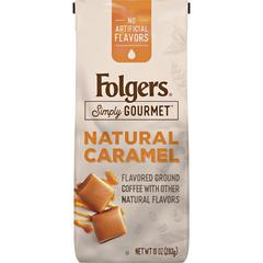 Folgers Gourmet Flavored Ground Coffee - Caramel - 10 oz - 1 Each