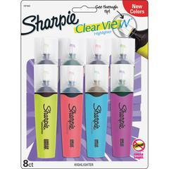 Sharpie Clear View Highlighter - Chisel Pen Point Style - Assorted Lead - 8 / Pack
