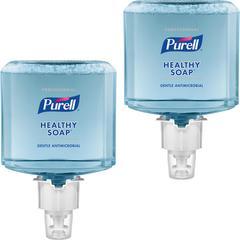 PURELL® ES6 0.5% BAK HEALTHY SOAP Foam - 40.6 fl oz (1200 mL) - Hand - Blue - Antimicrobial, Moisturizing, Dye-free, Hypoallergenic, Bio-based - 2 / Carton