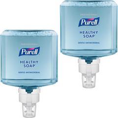 PURELL® ES8 Prof 0.5% BAK Foam HEALTHY SOAP - 40.6 fl oz (1200 mL) - Hand - Blue - Antimicrobial, Moisturizing, Dye-free, Hypoallergenic, Bio-based - 2 / Carton