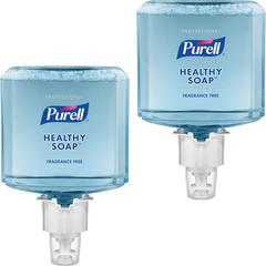 PURELL® ES6 Professional HEALTHY SOAP Mild Foam - 40.6 fl oz (1200 mL) - Dirt Remover, Kill Germs - Skin - Blue - Hypoallergenic, Dye-free, Fragrance-free, Moisturizing, Bio-based - 2 / Carton