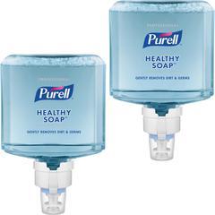 PURELL® ES8 Professional Fresh Scent Foam HEALTHY SOAP - Fresh Scent - 40.6 fl oz (1200 mL) - Dirt Remover, Kill Germs - Hand - Blue - Hypoallergenic, Dye-free, Pleasant Scent, Moisturizing, Bio-b