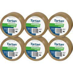 "Tartan General Purpose Packaging Tape - 1.88"" Width x 54.60 yd Length - 3"" Core - Synthetic Rubber Resin - 1.90 mil - Rubber Resin Backing - 6 / Pack - Tan"