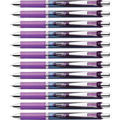 EnerGel Needle Tip Liquid Gel Ink Pens - 0.5 mm Pen Point Size - Needle Pen Point Style - Refillable - Violet Liquid Gel Ink Ink - 1 Dozen