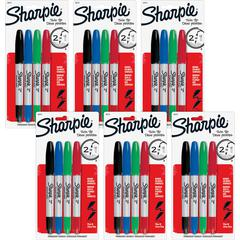 Sharpie Twin Tip Markers - Ultra Fine, Fine Marker Point TypeAlcohol Based Ink - 24 / Bag