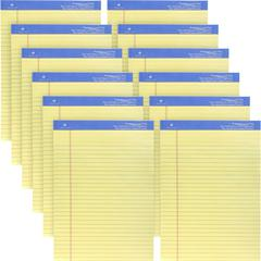"""Sparco Premium Grade Perforated Legal Ruled Pads - 50 Sheets - Wire Bound - Both Side Ruling Surface - 0.34"""" Ruled - 16 lb Basis Weight - 8 1/2"""" x 11 3/4"""" - Canary Paper - Perforated, Sturdy Back, Bon"""