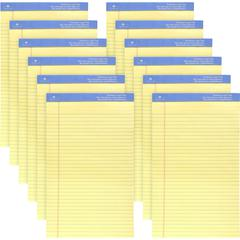 """Sparco Premium Grade Perforated Legal Ruled Pads - Legal - 50 Sheets - Wire Bound - Both Side Ruling Surface - 0.34"""" Ruled - 16 lb Basis Weight - 8 1/2"""" x 14"""" - Canary Paper - Perforated, Sturdy Back,"""