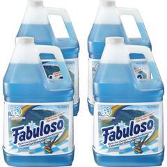 Fabuloso Ocean Multi-use Cleaner - Liquid - 1 gal (128 fl oz) - Ocean Cool Scent - 4 / Carton - Blue