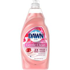 Dawn Gentle Clean Dish Liquid - Liquid - 0.19 gal (24 fl oz) - Pomegranate Splash Scent - Pink