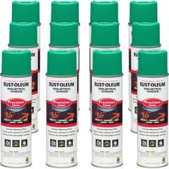 Industrial Choice Color Precision Line Marking Paint - 17 fl oz - 12 / Carton - Green