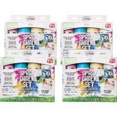 Testors 4-color Spray Chalk Set - 6 fl oz - 4 / Carton - Pink, Blue, Yellow, White