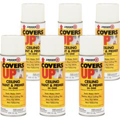 Zinsser COVERS UP Ceiling Paint & Primer In One - 13 fl oz - 6 / Carton - White