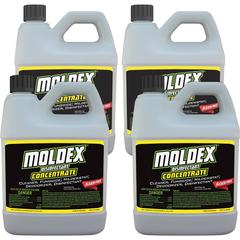 Moldex Disinfectant Concentrate - Concentrate Liquid - 0.50 gal (64 fl oz) - Fresh Clean Scent - 4 / Carton - White