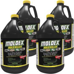 Moldex Mold Killer - Liquid - 1 gal (128 fl oz) - Fresh Clean Scent - 4 / Carton - White