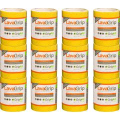 "GripAll LavaGrip Anti-Slip Strips - 6"" Width x 4 ft Length - Durable, Anti-slip, Self-adhesive - 4 / Carton - Yellow"
