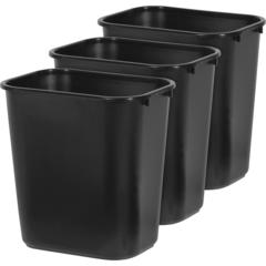 "Rubbermaid Commercial Deskside Wastebasket - 7.13 gal Capacity - Rectangular - Durable, Easy to Clean, Chip Resistant, Rust Resistant, Dent Resistant - 15"" Height x 10.5"" Width x 14.4"" Depth - Plastic"