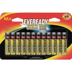 Eveready Gold Alkaline AA Batteries - AA - Alkaline - 1.5 V DC - 24 / Pack