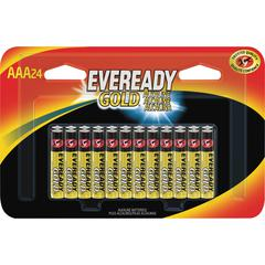Eveready Gold Alkaline AAA Batteries - AAA - Alkaline - 24 / Pack