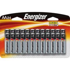 Energizer MAX Alkaline AA Batteries - AA - Alkaline - 1.5 V DC - 24 / Pack