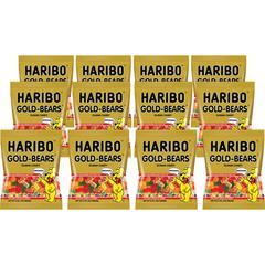 HARIBO Gold-Bears Gummi Candy - Lemon, Orange, Pineapple, Raspberry, Strawberry - 0.50 oz - 12 / Carton