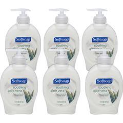 Softsoap Aloe Vera Hand Soap - Aloe Vera Scent - 7.5 fl oz (221.8 mL) - Pump Bottle Dispenser - Dirt Remover - Hand - Pearl - Moisturizing - 6 / Carton