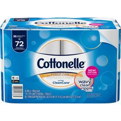 Cottonelle Ultra CleanCare Bath Tissue - White - Sewer-safe, Septic Safe, Soft, Strong, Absorbent, Flushable - For Bathroom - 36 / Pack