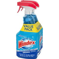 Windex® Original Glass Cleaner Value Pack - Ready-To-Use Spray - 0.18 gal (23 fl oz) - Bottle - 6 / Carton - Blue
