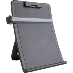 """Business Source Curved Easel Document Holder - 10"""" x 2.5"""" x 14.4"""" - 1 / Each - Black"""