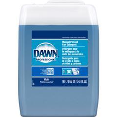 Dawn Manual Pot & Pan Detergent - Liquid - 5 gal (640 fl oz) - Original Scent - 1 Each - Translucent Blue