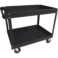 "Lorell Utility Cart - 2 Shelf - 400 lb Capacity - Steel - 30"" Length x 16"" Width x 32"" Height - Black"