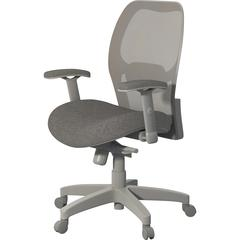 "Safco 3200 Mesh Back Chair - Fabric Gray Seat - Gray Back - Gray Frame - 5-star Base - 24.8"" Width x 23.5"" Depth x 41"" Height"