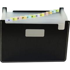 "C-Line Fashion Stand-up Expanding File - Letter - 8 1/2"" x 11"" Sheet Size - 13 Pocket(s) - Polypropylene - Black - 1 Each"