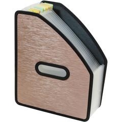 "C-Line Modern Metallic Stand-up Expanding File - Letter - 8 1/2"" x 11"" Sheet Size - 13 Pocket(s) - Polypropylene - Bronze - 1 Each"